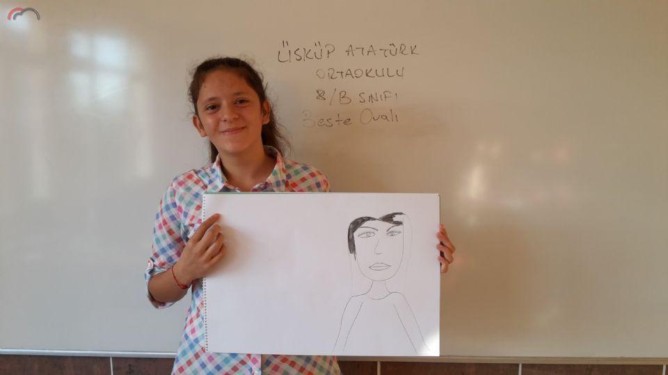 Üsküp Atatürk Ortaokulu 8B sınıfı Görsel Sanatlar Dersi Çalışmaları